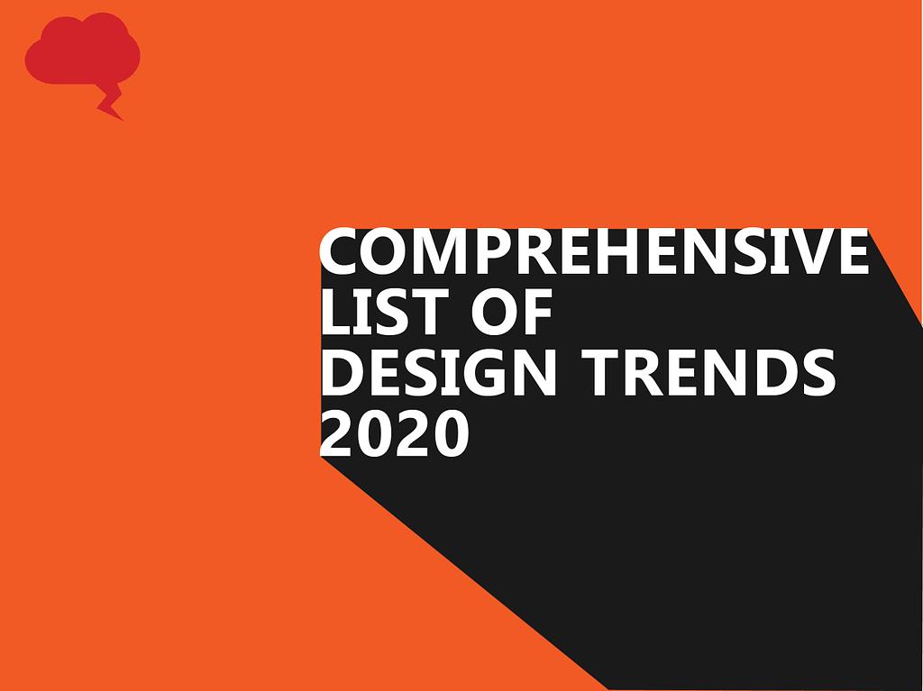 comprehensive list of design trends 2020
